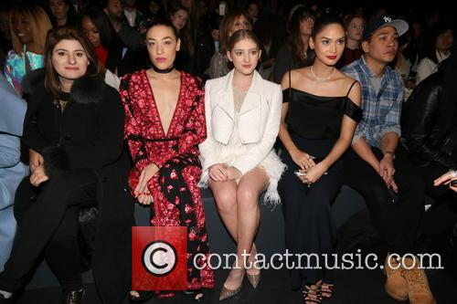 Actress Jackie Miranne, A Guest, Actresses Mia Moretti, Willow Shields, And Miss Universe 2016 and Pia Alonzo Wurtzbach 3