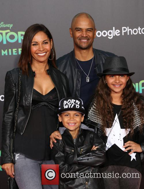 Salli Richardson, Dondre Whitfield, Parker Richardson Whitfield and Dre Terrell Whitfield 3