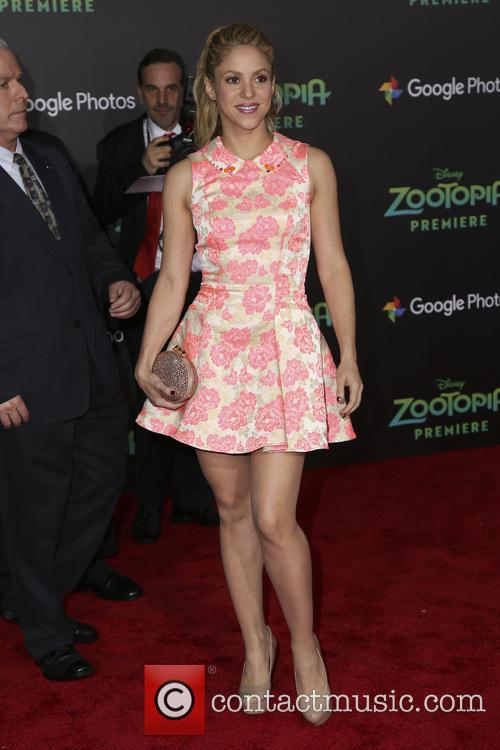 Shakira at the 'Zootopia' premiere