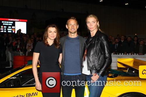 Suzi Perry, Jensen Button and Jodie Kidd 1