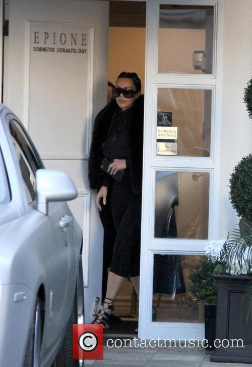 Kim Kardashian spotted leaving Epione Cosmetic Laser Center...