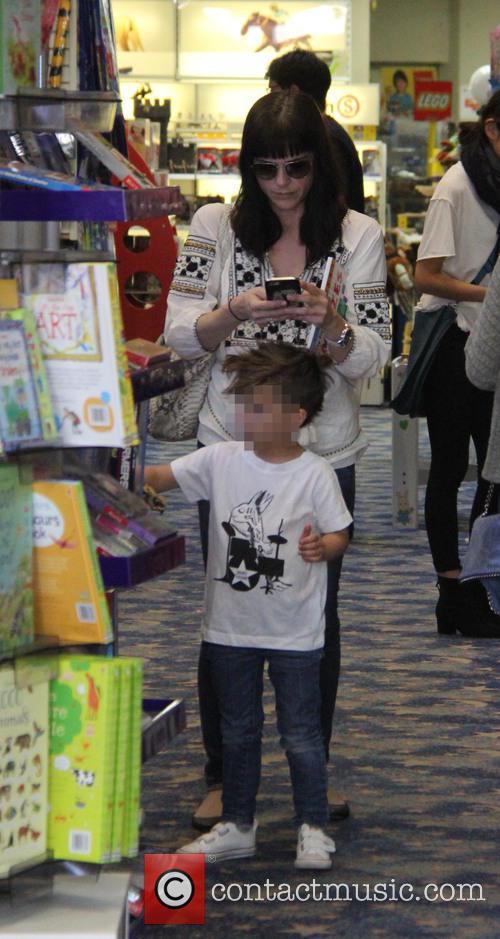 Selma Blair takes her son Arthur shopping at...