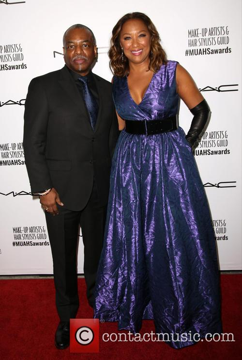 Levar Burton and Stephanie Cozart Burton 1