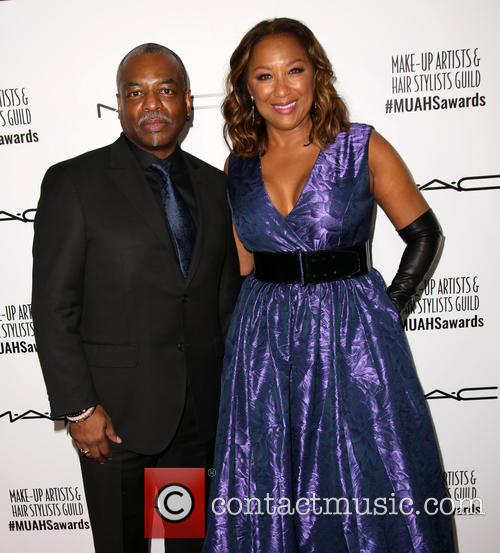 Levar Burton and Stephanie Cozart Burton 2