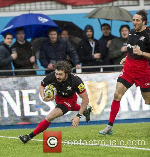 Ben Ransom Of Saracens Scores The First Try 1