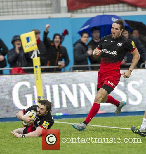 Ben Ransom Of Saracens Scores The First Try 2