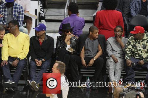 Jay Z, Beyonce' and Kendrick Lamar 8