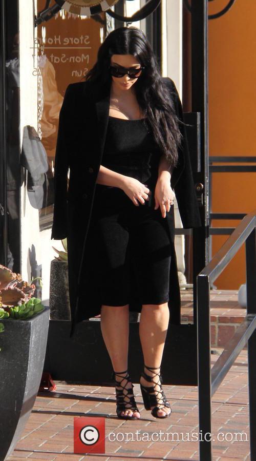 Kim Kardashian, Kanye West and North West 3