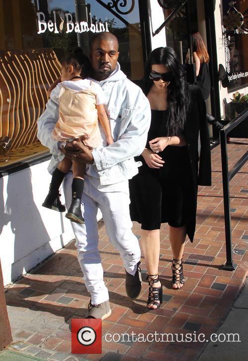 Kim Kardashian, Kanye West and North West 8