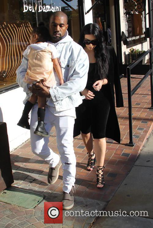 Kim Kardashian, Kanye West and North West 10
