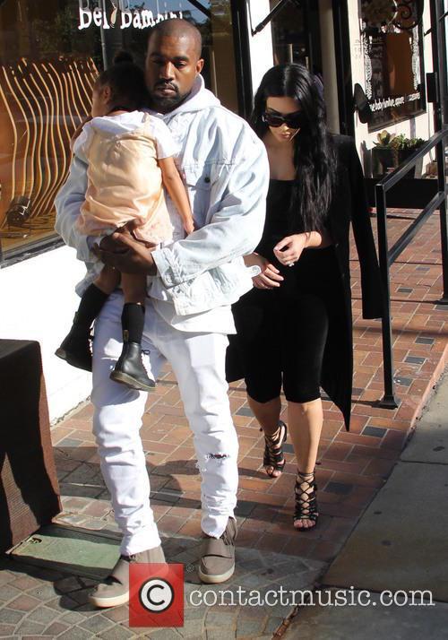 Kim Kardashian, Kanye West and North West 11