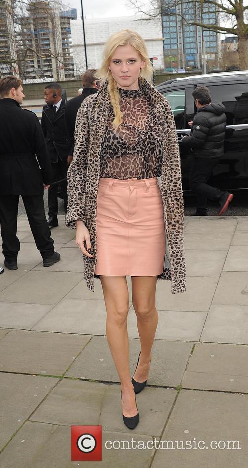 Celebrities attend the LFW Topshop Unique fashion show