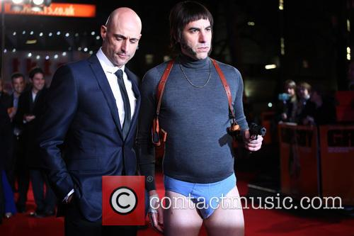Mark Strong, Sacha Baron Cohen and Nobby 3