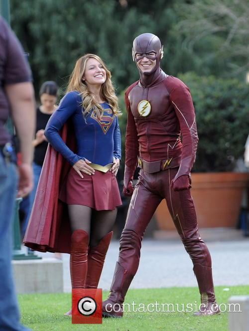 Melissa Benoist and Grant Gustin 2