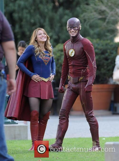 Melissa Benoist and Grant Gustin 3