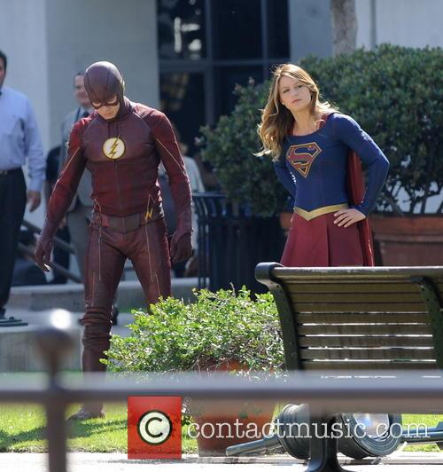 Melissa Benoist and Grant Gustin 6