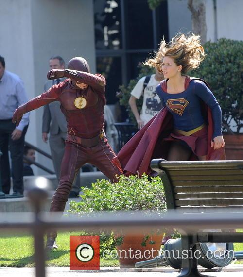 Melissa Benoist and Grant Gustin 10