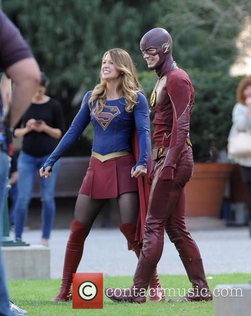 Melissa Benoist and Grant Gustin 11