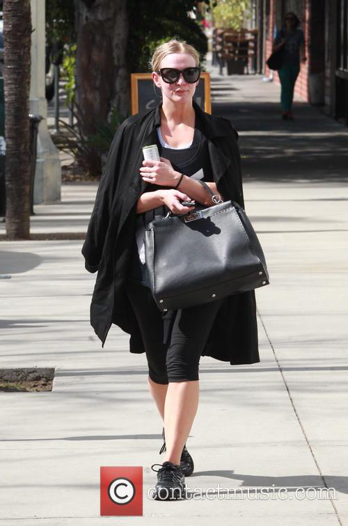 Ashlee Simpson spotted post workout