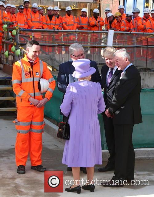 Queen Elizabeth Ii, Boris Johnson and Patrick Mcloughlin 1