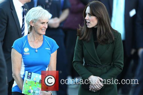 Duchess Of Cambridge and Judy Murray 3