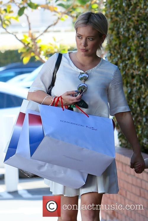Hilary Duff seen shopping at Fred Segal