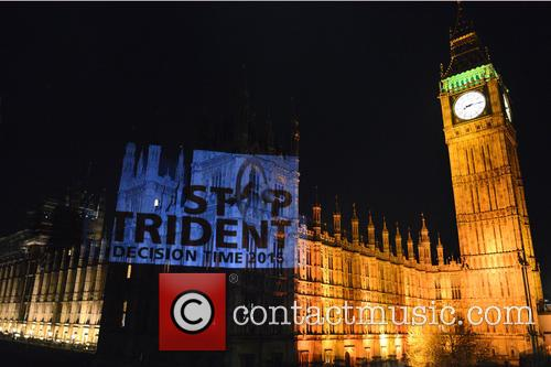 Stop Trident projected on to Parliament