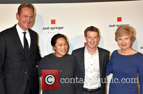 Mathias Doepfner, Priscilla Chan, Mark Zuckerberg and Friede Springer 2
