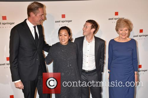 Mathias Doepfner, Priscilla Chan, Mark Zuckerberg and Friede Springer 8