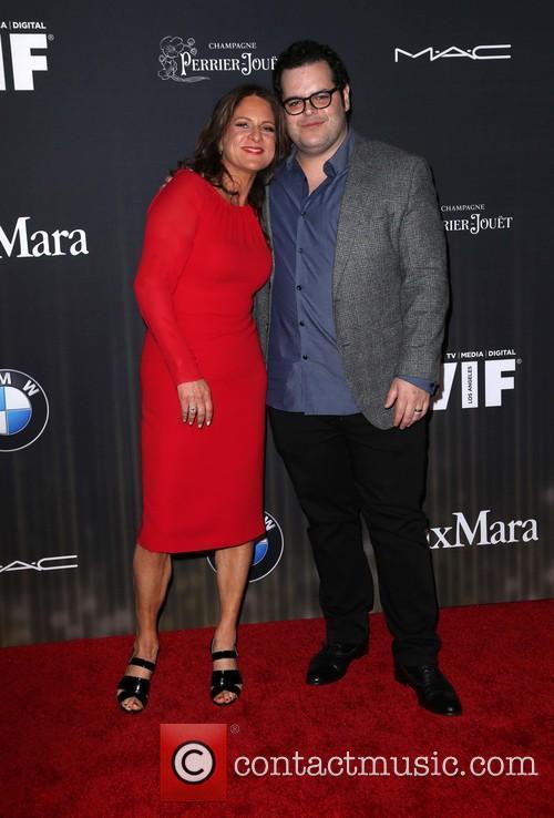 Cathy Schulman and Josh Gad