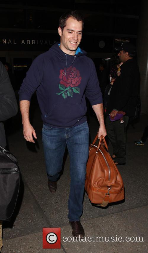 Henry Cavill arrives on a flight to Los...