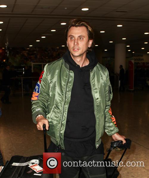 Jonathan Cheban arrives at Heathrow Airport