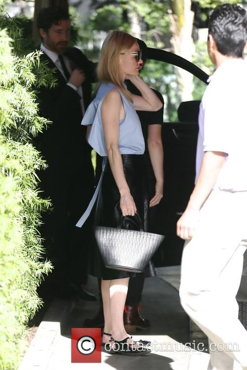 Kate Bosworth arrives at the Sunset Towers Hotel