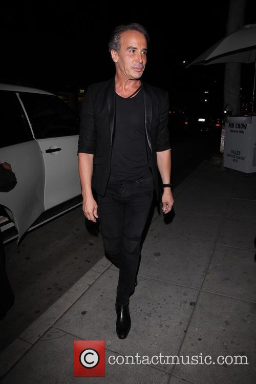 Celebrity Fashion Designer Lloyd Klein dines at Mr....