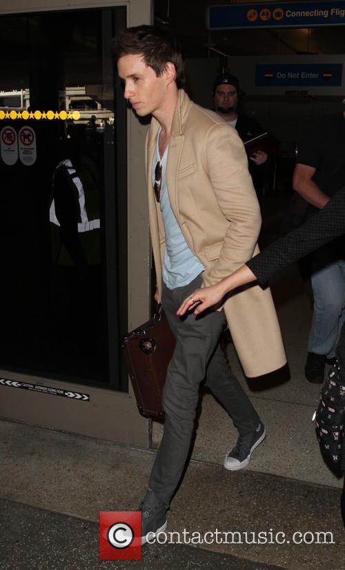 Eddie Redmayne seen arriving at LAX airport