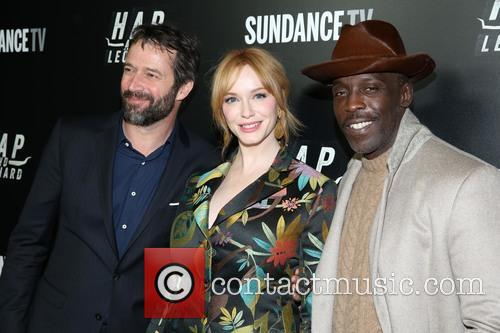 James Purefoy, Christina Hendricks and Michael K. Williams