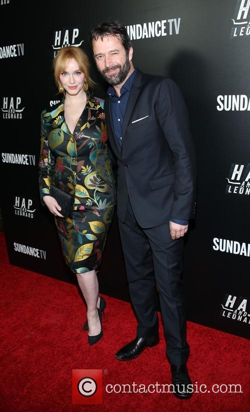 Christina Hendricks and James Purefoy 5