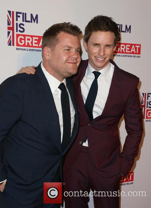 James Corden and Eddie Redmayne