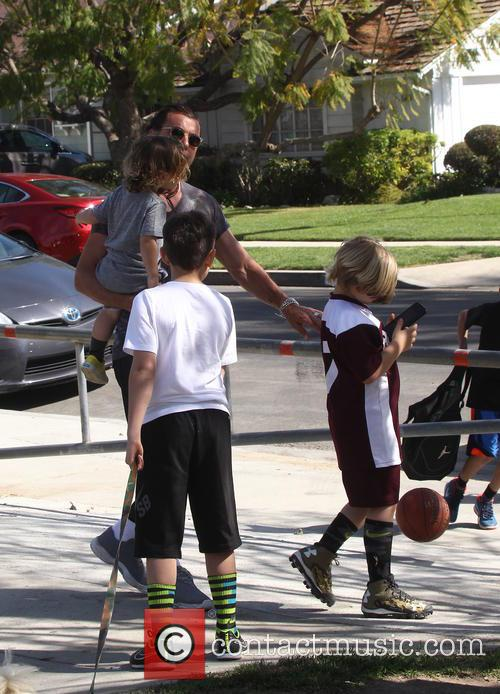 Gavin Rossdale, Apollo Rossdale, Kingston Rossdale and Zuma Rossdale 1