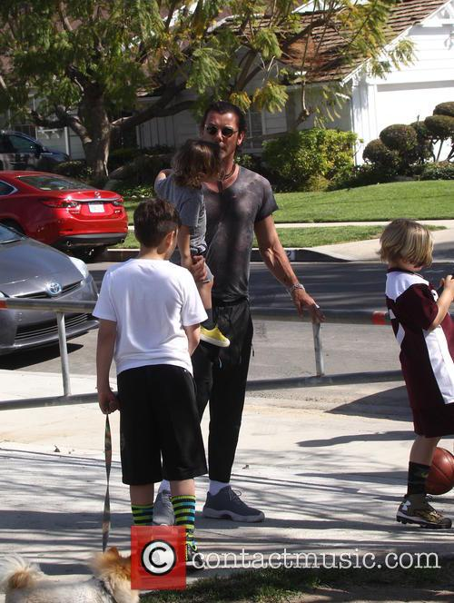Gavin Rossdale, Apollo Rossdale, Kingston Rossdale and Zuma Rossdale 2
