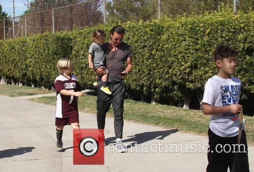 Gavin Rossdale, Apollo Rossdale, Kingston Rossdale and Zuma Rossdale 4