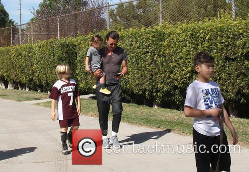 Gavin Rossdale, Apollo Rossdale, Kingston Rossdale and Zuma Rossdale 5