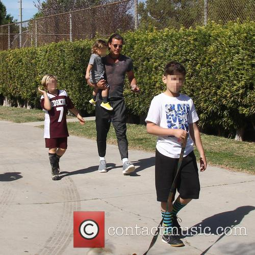 Gavin Rossdale, Apollo Rossdale, Kingston Rossdale and Zuma Rossdale 7