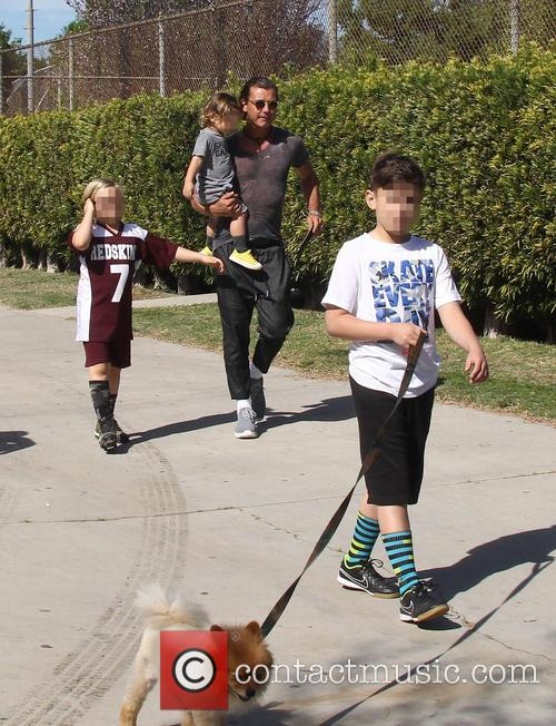 Gavin Rossdale, Apollo Rossdale, Kingston Rossdale and Zuma Rossdale 8