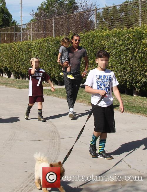 Gavin Rossdale, Apollo Rossdale, Kingston Rossdale and Zuma Rossdale 9