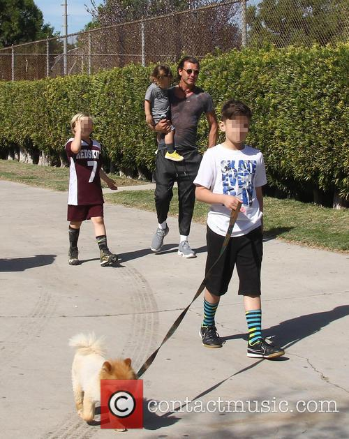 Gavin Rossdale, Apollo Rossdale, Kingston Rossdale and Zuma Rossdale 10