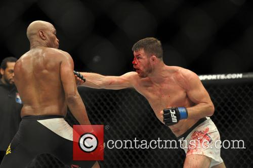 Michael Bisping and Anderson Silva 1