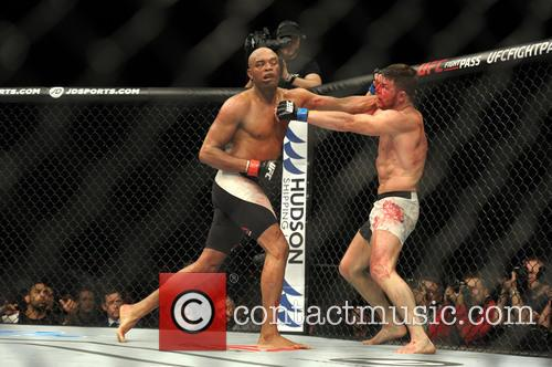 Michael Bisping and Anderson Silva 3
