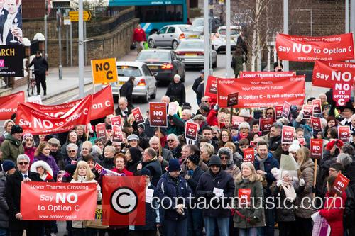 Anti Thames Crossing Protest