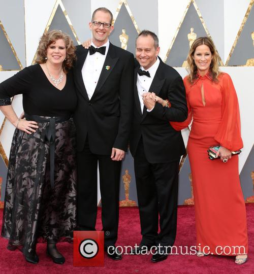 Amanda Docter, Pete Docter, Jonas Rivera and Michele Rivera 1